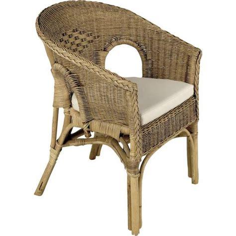 siege rotin fauteuil en rotin patiné marron 57x57x80cm achat vente