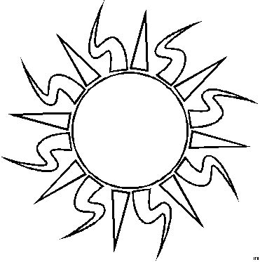 coloring page sun coloring pages