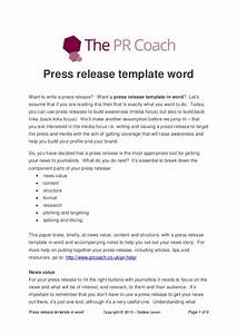 press release template word With app press release template