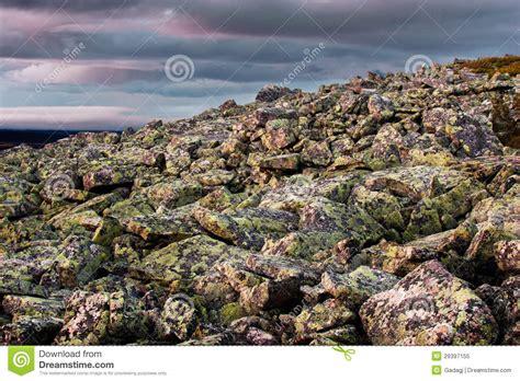 granite rock mountain in lapland royalty free stock photo