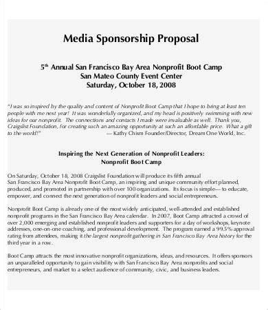 sponsorship proposal    word documents