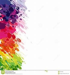 Tache De Couleur Peinture Fond Blanc : le fond abstrait de couleur clabousse illustration de vecteur illustration du fond modifi ~ Melissatoandfro.com Idées de Décoration