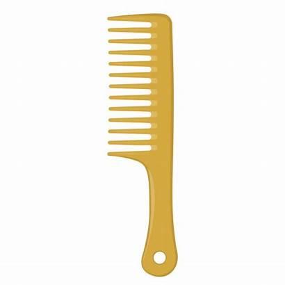 Comb Wood Hair Vector Gold Clip Illustrations