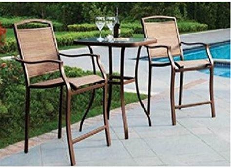 Mainstays Patio Furniture Manufacturer by Mainstays Sand Dune 3 High Outdoor Bistro Set Seats