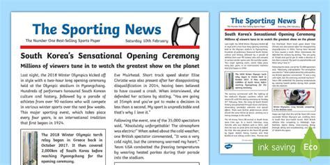 ks winter olympics  wagoll  newspaper report