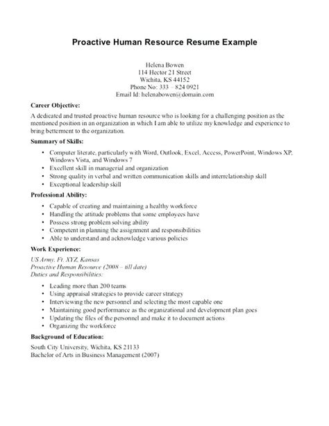 13774 objective in resume for hrm human resources resume objective exles composition