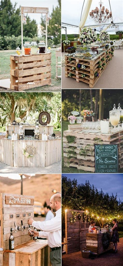 ideas   wood pallet   country wedding