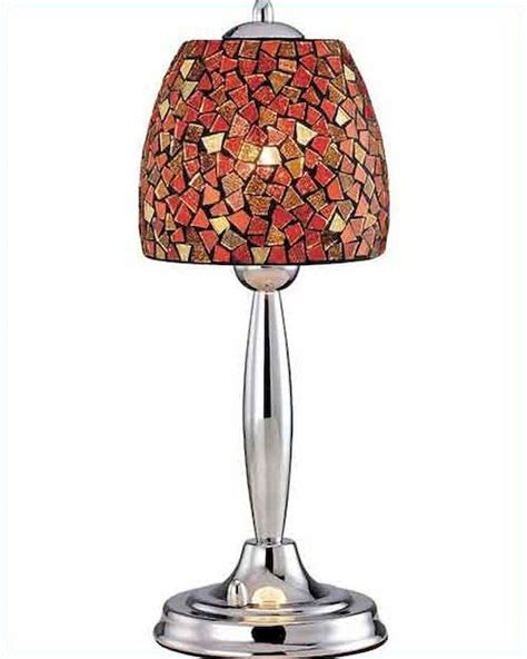 Chrome Bedroom Table Ls by Lite Source In Chrome With Mosaic Shade Table L Ls
