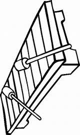 Xylophone Coloring Glockenspiel Template Cliparts Clipart Xylophones Pages sketch template