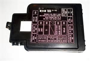 92 95 Civic Amp Del Sol Obd1 Exterior Under Hood Fuse Box Cover Lid Diagram P28
