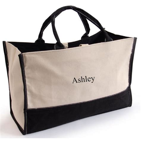 personalized small tote em bag