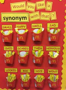 mcdonalds english display synonyms spag classroom