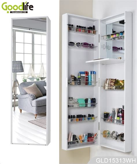 wall mounted or hanging over the door mirrored makeup