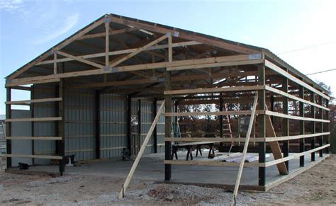 how to build a pole barn plans for sheds detail free pole shed plan