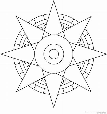 Coloring Mandala Mandalas Sun Pages Easy Simple