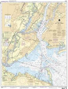 Frazzleberries com new york harbor mounted chart noaa 12327