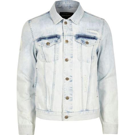 light wash denim jacket mens light blue acid wash denim jacket coats jackets