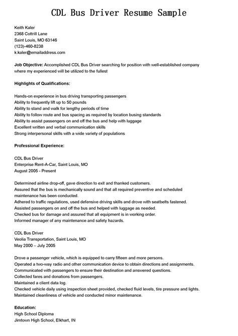 Driver Resume Skills by Driver Resumes Cdl Driver Resume Sle