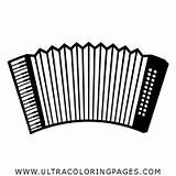 Accordion Coloring Pages sketch template