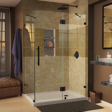 unique shower door ideas dreamline quatra lux 46 5 16 in x 32 1 4 in x 72 in frameless corner hinged shower enclosure