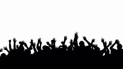 Crowd Silhouette Transparent Clipart Jumping Graphics Dancing