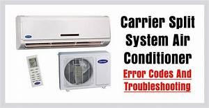 Carrier Split Air Conditioner Ac Error Codes