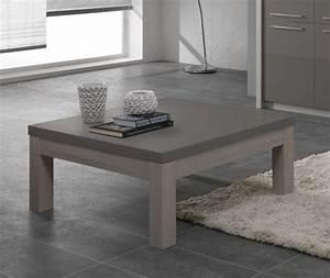 Table Basse Chene Blanchi : table basse fano chene blanchi laque gris chene blanchi gris brillant l 100 x h 44 x p 100 ~ Melissatoandfro.com Idées de Décoration
