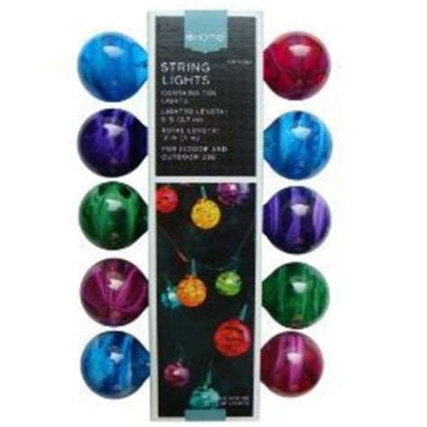 marble 10 bulb string lights multicolor from target