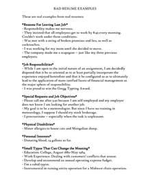 bad resume exles exles of bad resumes template resume builder