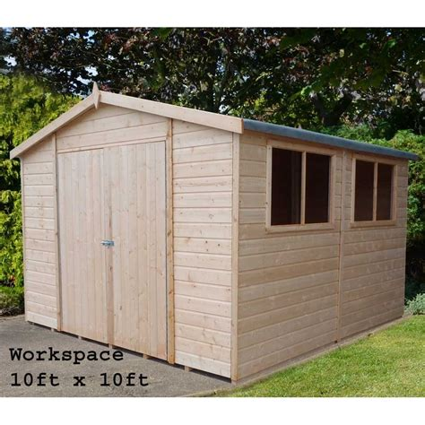 Workshops Sheds by Workman Garden Shed Workshop In 3 Sizes As Shown