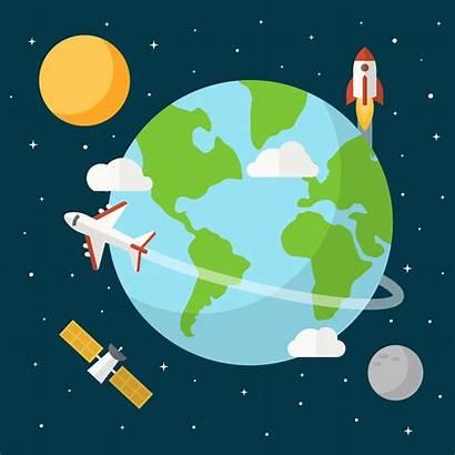 Earth Vector Globe Background Vecteezy Flat Clipart