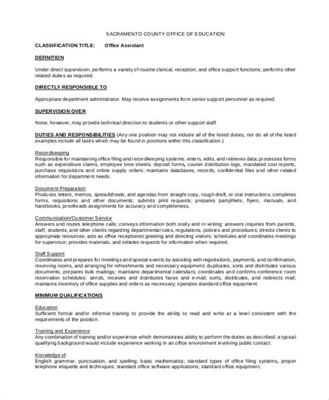 8+ Office Assistant Job Description Samples  Sample Templates. Fashion Business Plan Sample. Personal Budget Excel Sheet Template. Keywords For Administrative Assistant Resumes Template. Kentucky Wildcats Screensavers. Sales Executive Resume. Toastmasters Meeting Agenda Template. Personal Business Cards Online Template. Lawn Care Proposal Template