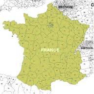 european  digit postcode maps