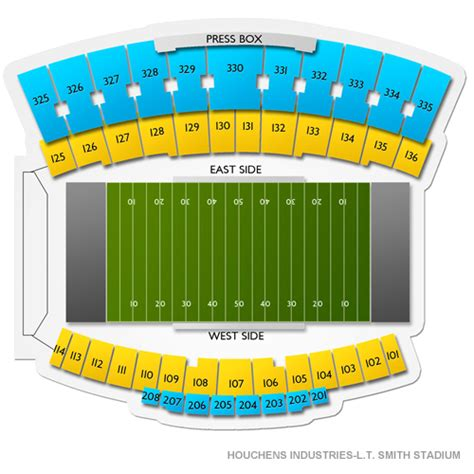 Houchens Industries-L.T. Smith Stadium Seating Chart ...
