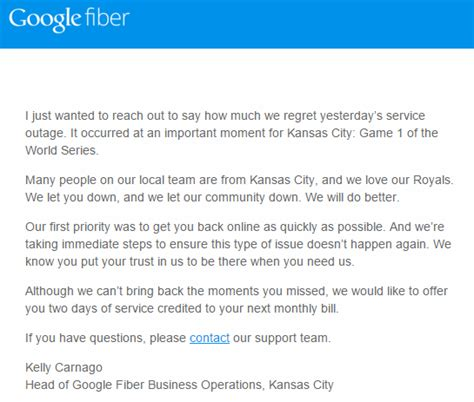 google fiber apologizes  world series outage credits