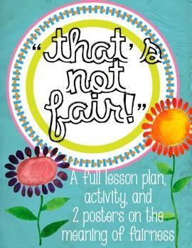 fairness lesson activity  poster   bad apple tpt