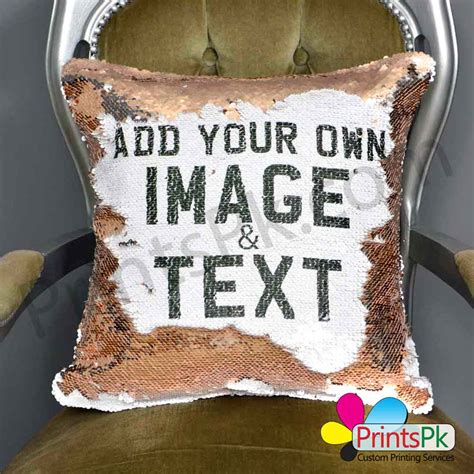 personalized photo pillows reversible sequin pillow with custom photo or name best