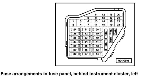 2012 Beetle Fuse Box Diagram by Where Can I Get A Fuse Box Diagram For A 2001 Beetle The
