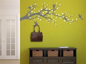 Baum Als Garderobe : wandtattoo garderobe ast mit v geln wandtattoo de ~ Buech-reservation.com Haus und Dekorationen