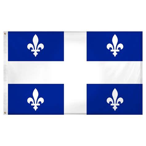 Quebec flag 3 x 5 feet Superknit polyester