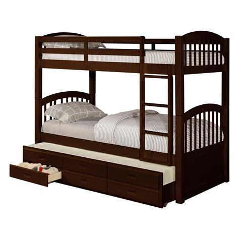 Bunk Beds With Trundle And Storage by Signature Home Brook Espresso Wood Bunk Bed