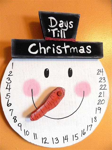 snowman countdown to christmas wall hanging advent by