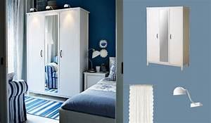 brusali armoire blanche avec une porte miroir et deux With armoire chambre avec miroir