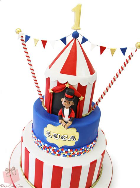 1st Birthday Circus Themed Cake » Celebration Cakes