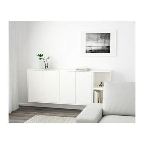 Ikea Wohn Und Arbeitszimmer by Eket Schrankkombination F 252 R Wandmontage Wei 223 Ikea