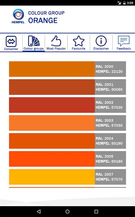 hempel colour converter android apps on google play