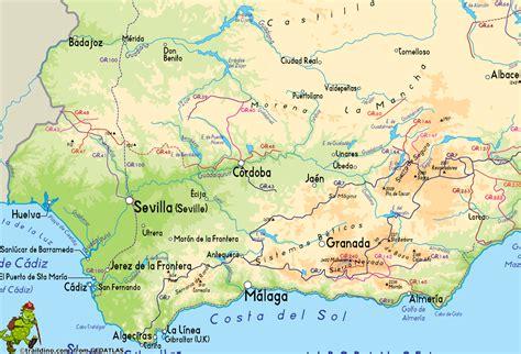 andalucia region del mapa mapa espana pais ciudad region