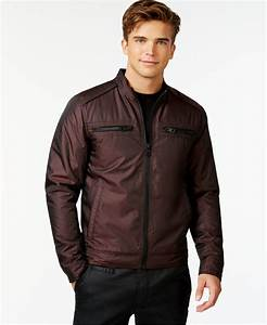 Guess Victor Quilted Jacket in Brown for Men | Lyst