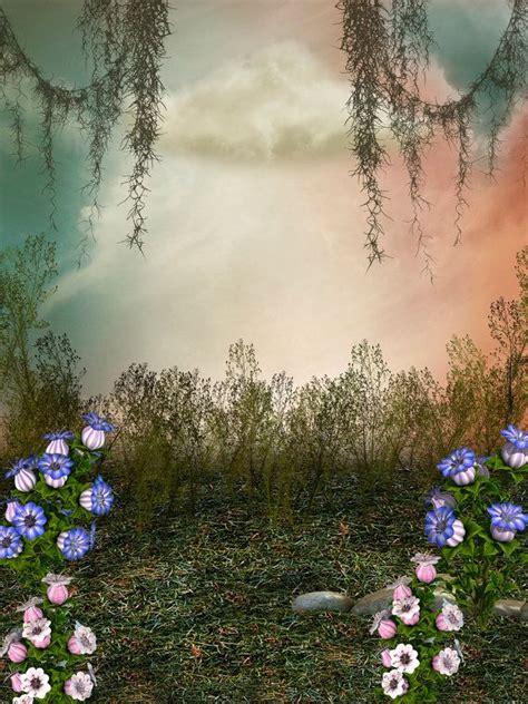 fairy tale backdrop enchanted garden spring backdrop