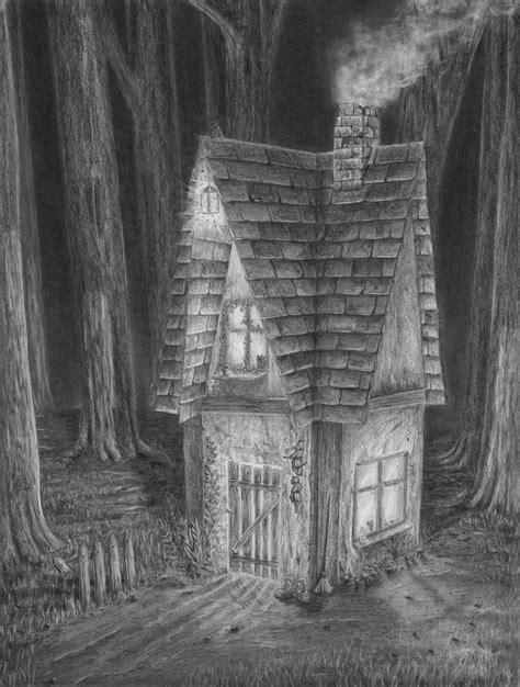 Haus Im Dunklen Wald Zeichnen Lernen Zeichenkurs